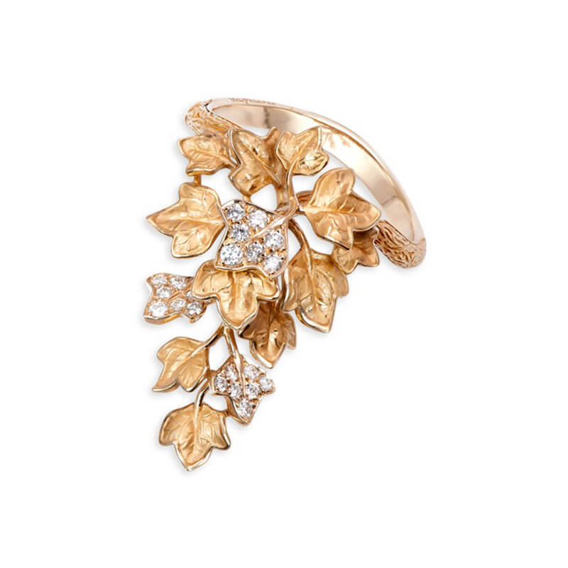 Verona Leaf Ring