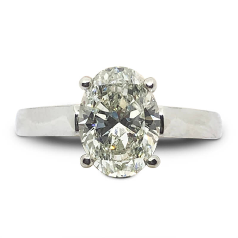 2.01ct. Solitaire Oval Ring