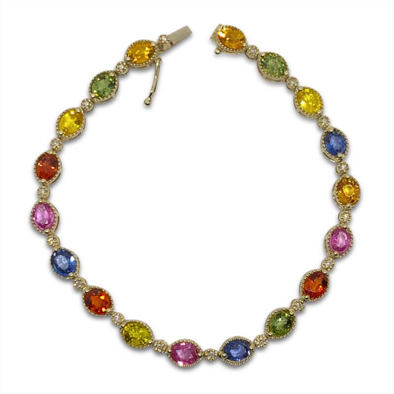 Multi Colored Sapphire Bracelet
