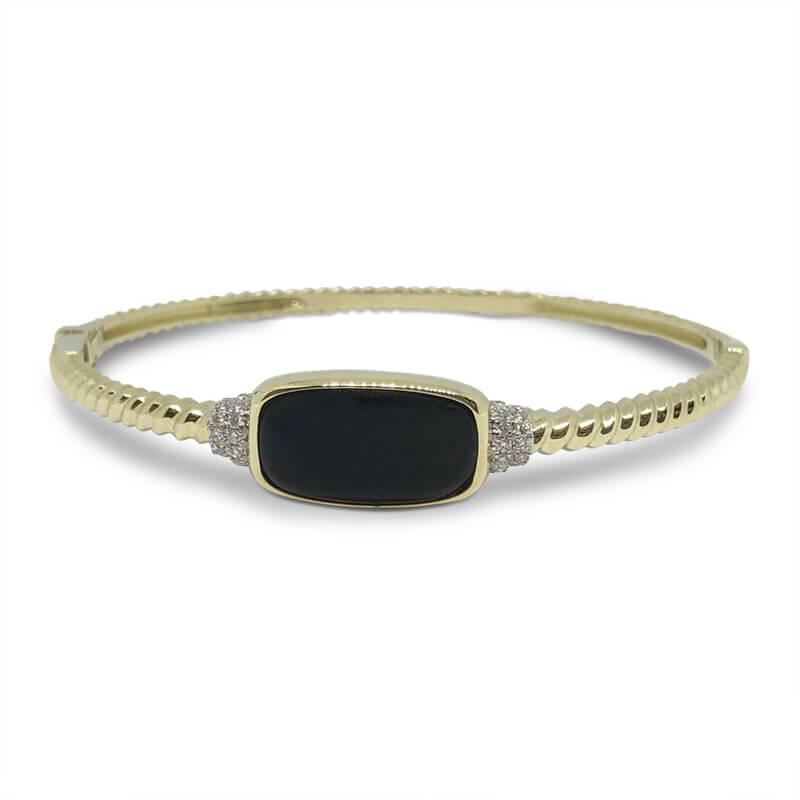 Black Onyx Cable Bracelet