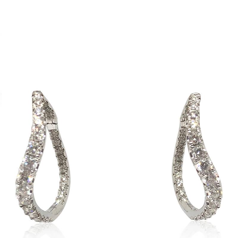 2.01ct. Diamond Twist Hoops