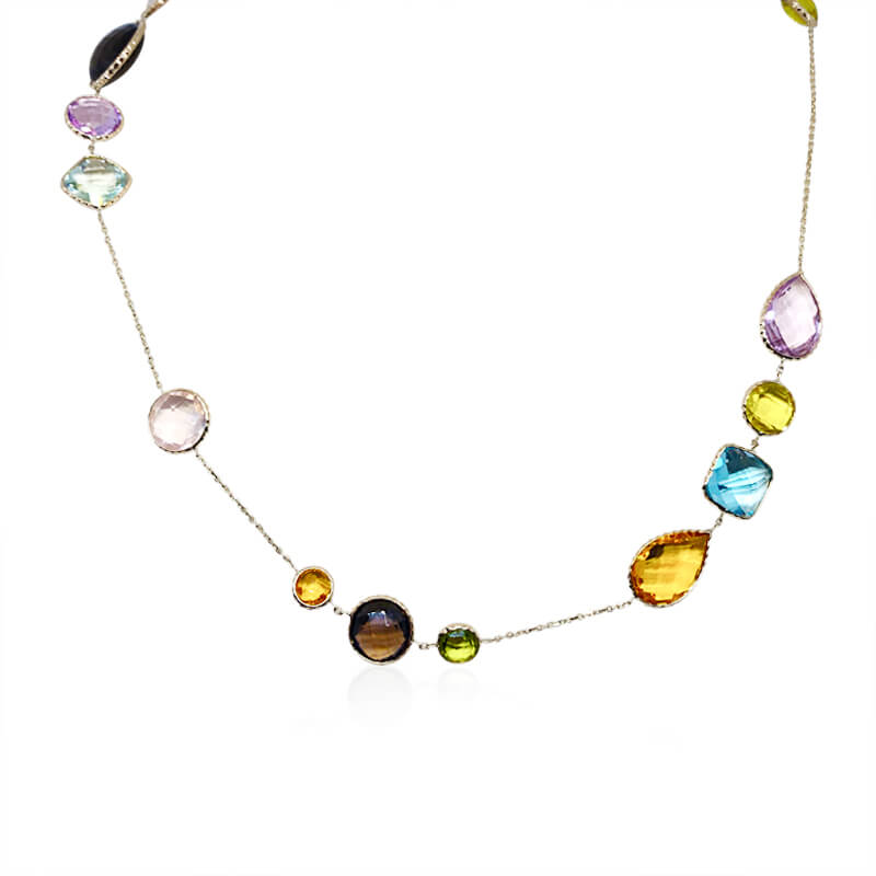 "Multi Gemstone 36"" Necklace"