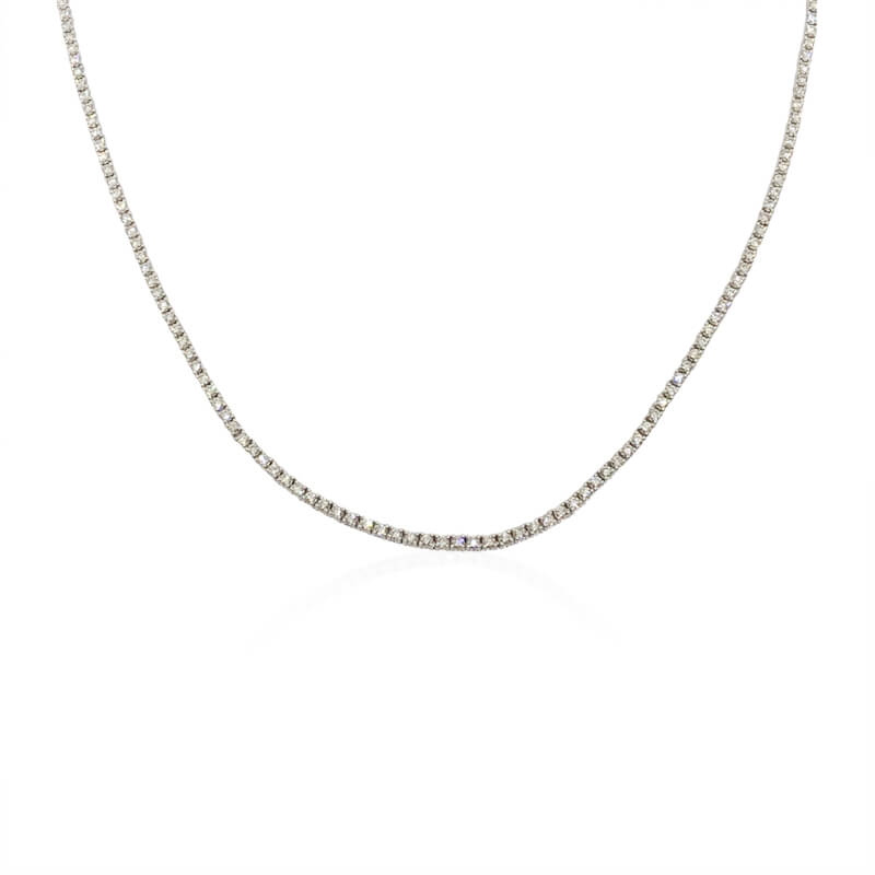 3.88ct. Diamond Line Necklace