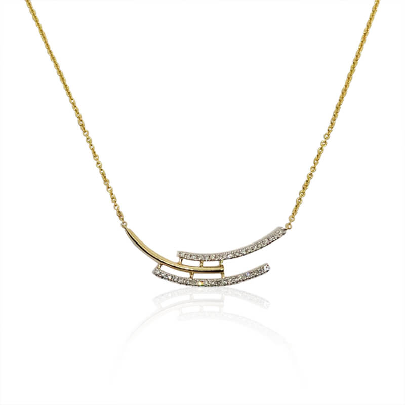 Diamond Bypass Necklace