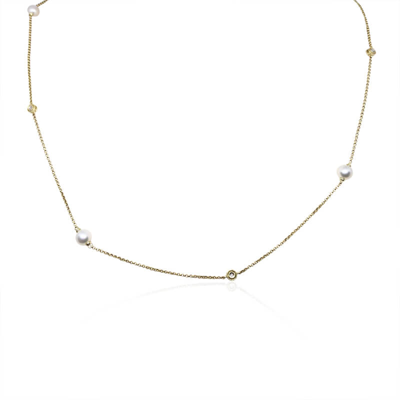 "33"" Pearl & Diamond Necklace"
