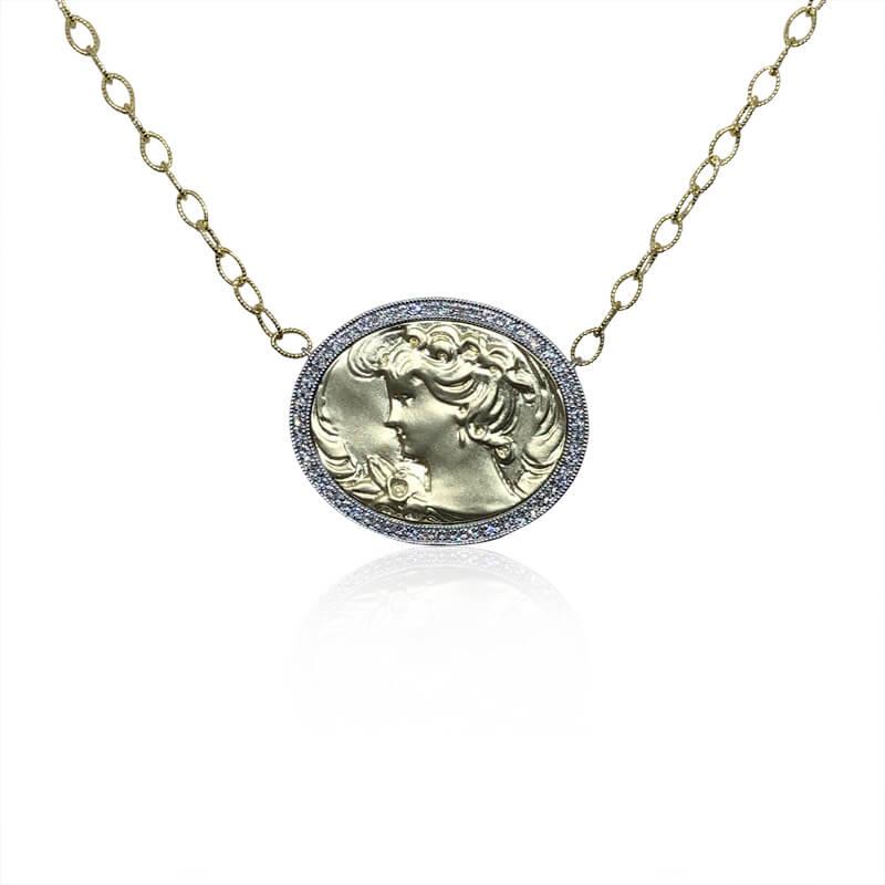 Oval Roman Coin Pendant