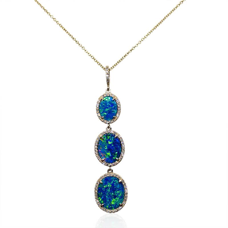 Tri Opal Pendant