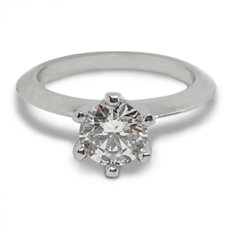 1.01ct. Solitaire Tiffany Style Engagement Ring