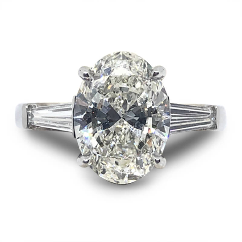 3.01ct. Oval Engagement Ring