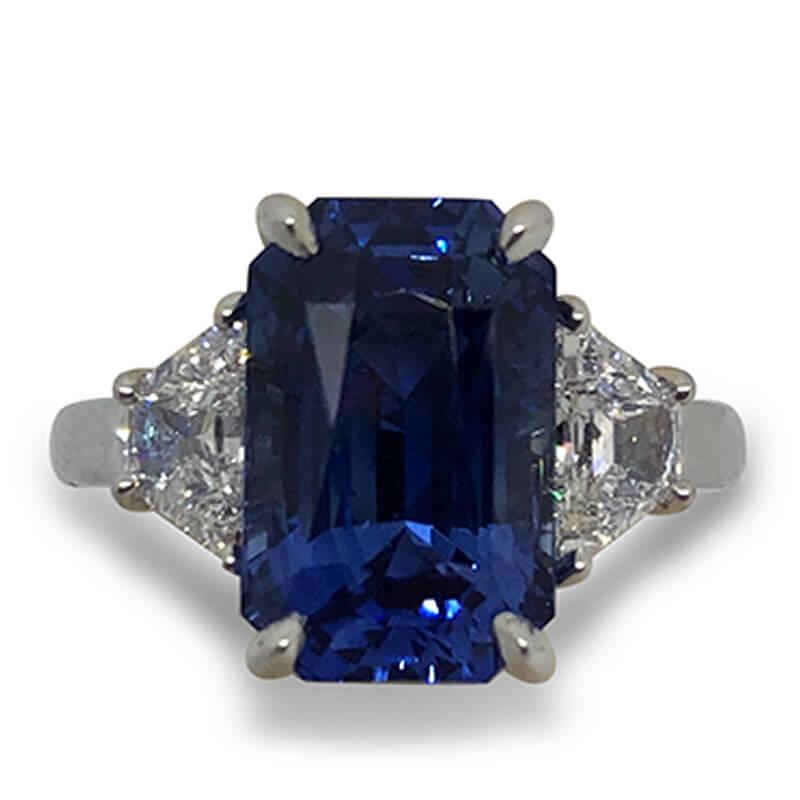 7.58ct. Sapphire & Diamond Ring