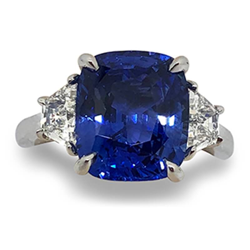 6.70ct. Sapphire & Diamond Ring