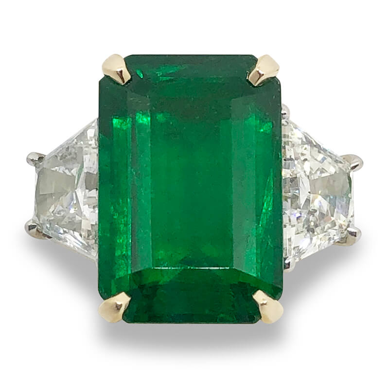 8.34ct. Emerald & Diamond Ring