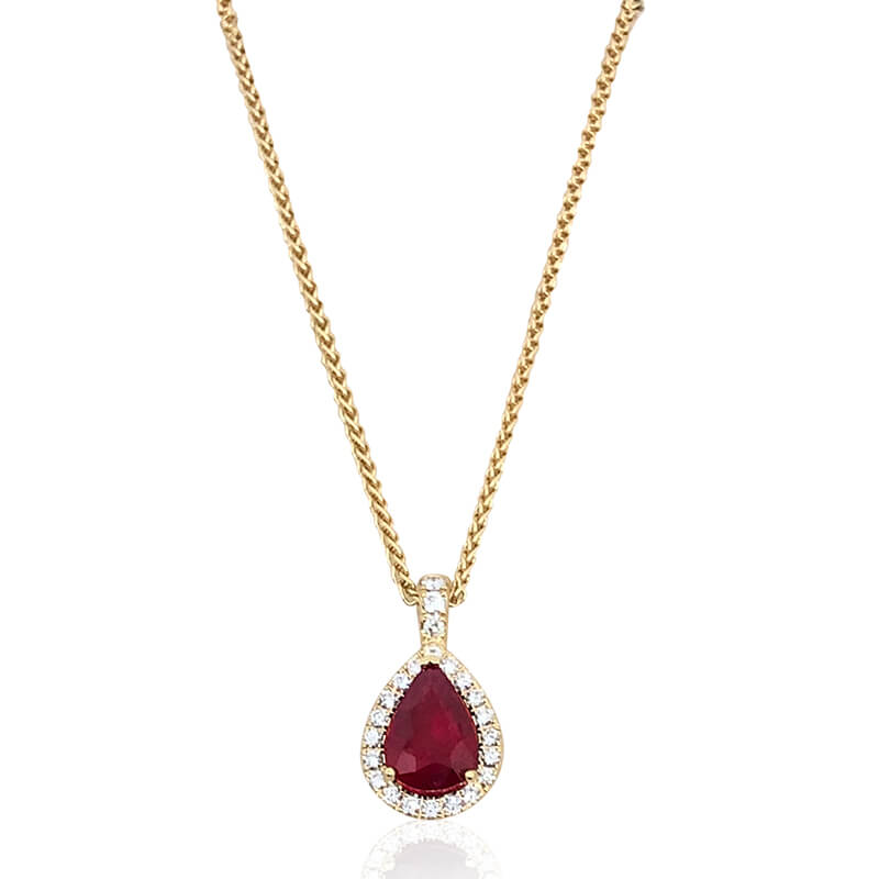 .88ct. Ruby & Diamond Pendant