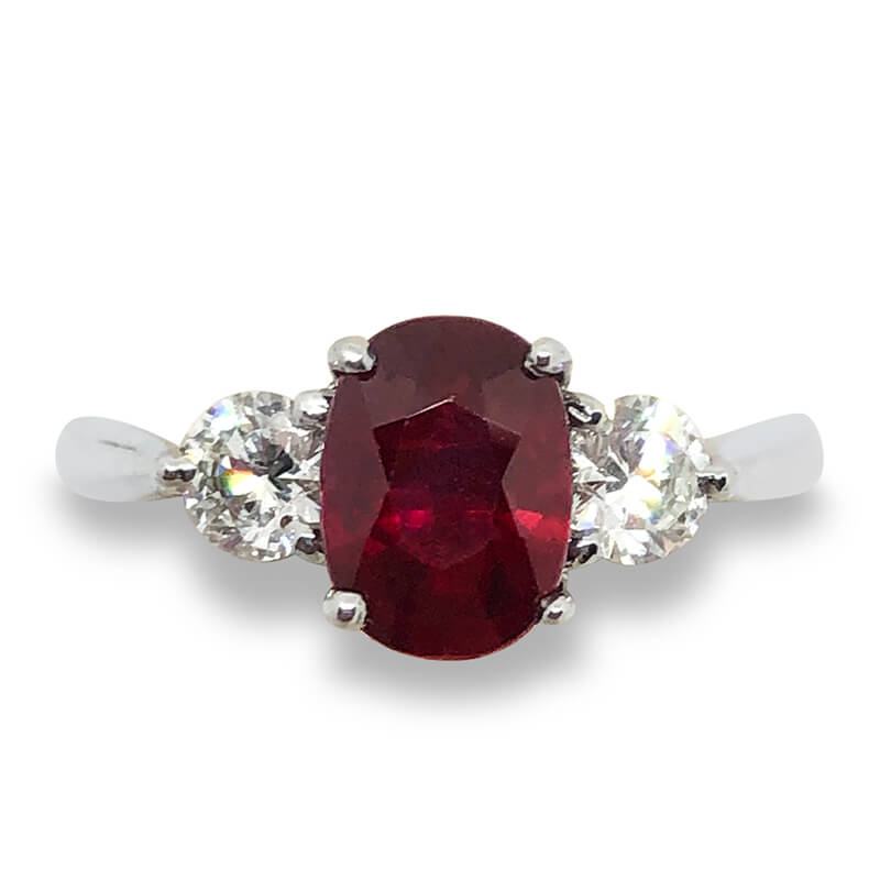 1.67ct. Ruby & Diamond Ring