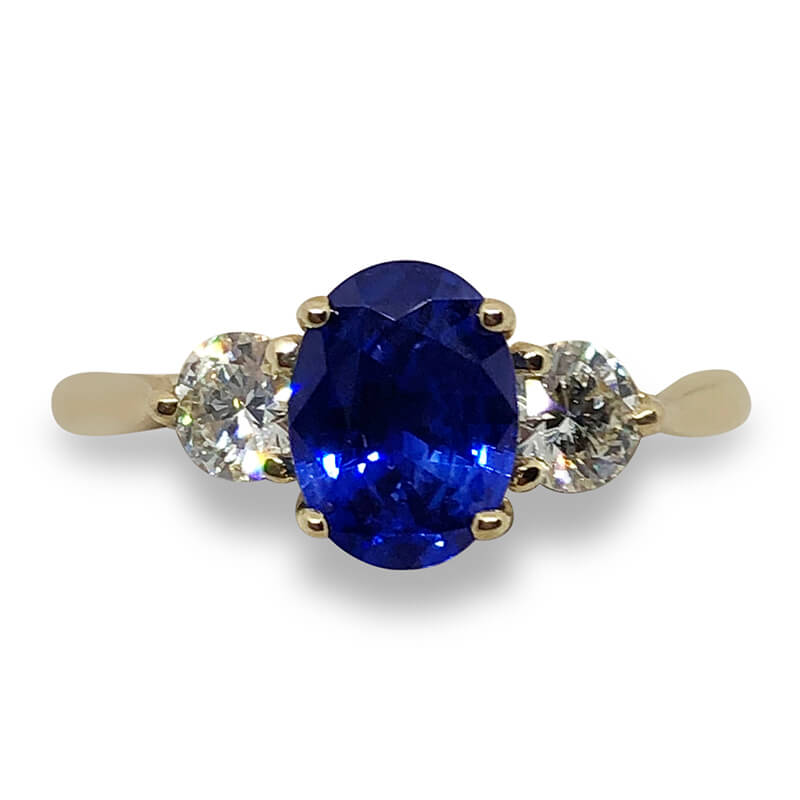 1.30ct. Sapphire & Diamond Ring