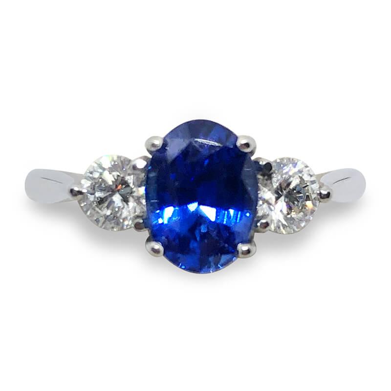 1.38ct. Sapphire & Diamond Ring