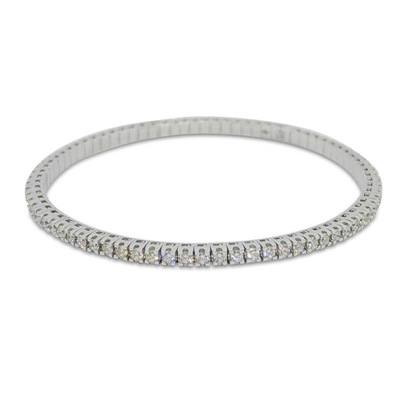 2.01ct. WG Flexible Bracelet