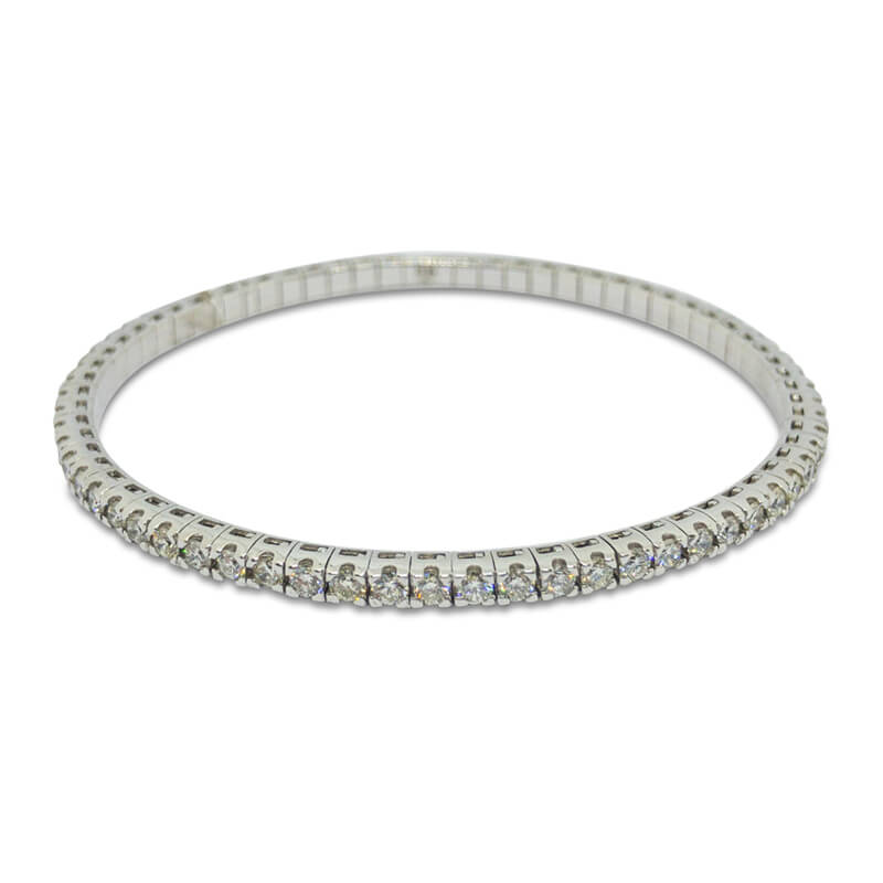3.01ct. WG Flexible Bracelet