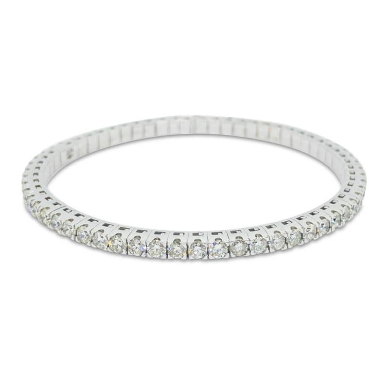 5.30ct. WG Flexible Bracelet