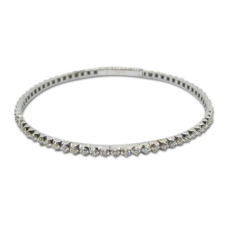 1.01ct. WG Flexible Bracelet
