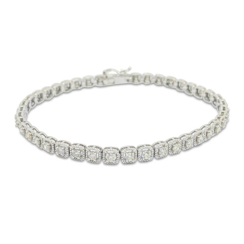1.50ct. Diamond Tennis Bracelet- WG