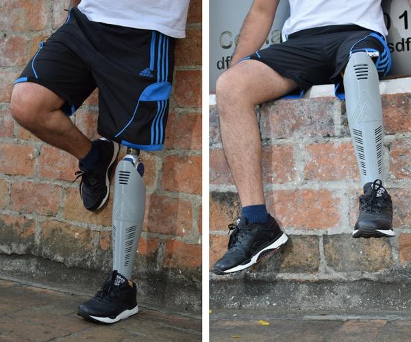 Cubierta para rodilla protesica transfemoral.