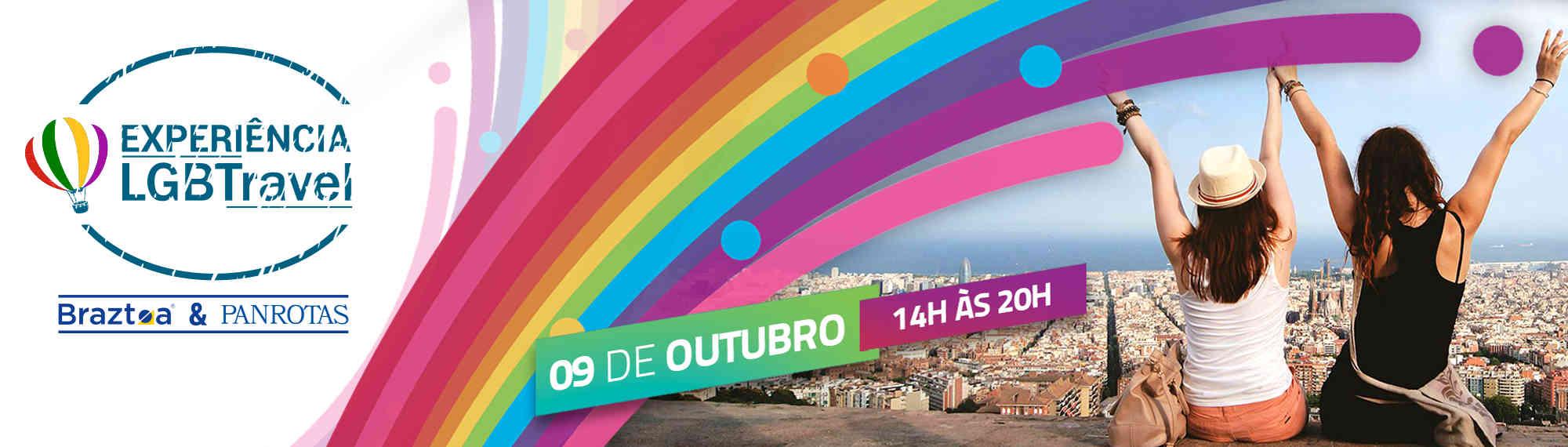 Experiência LGBTravel acontece em 9 de outubro; inscrições seguem abertas