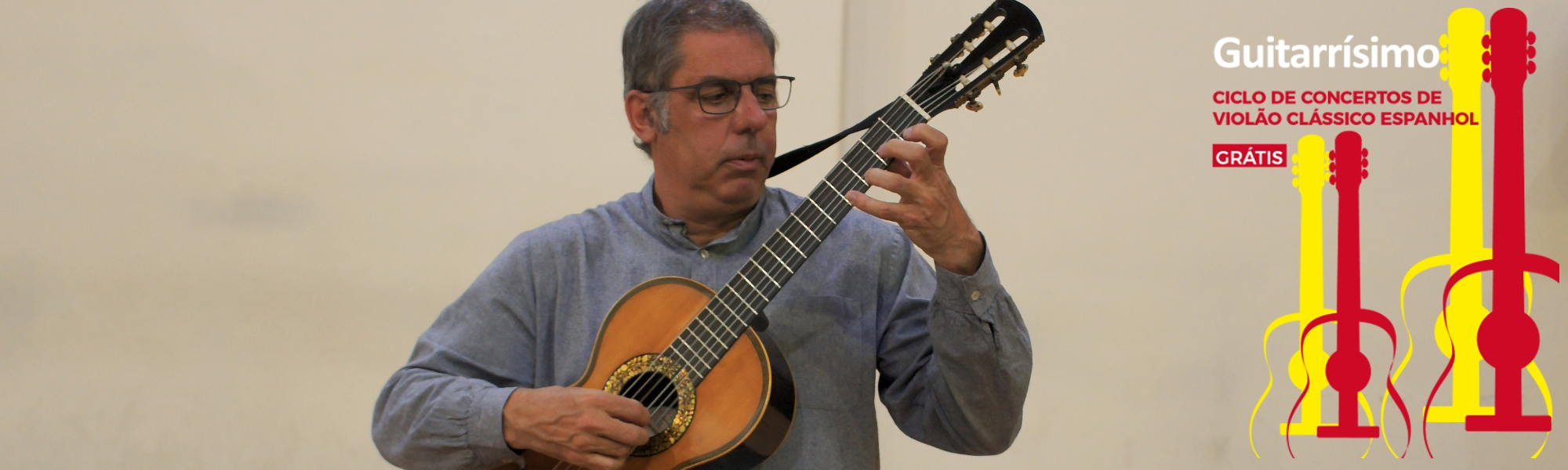 Guitarrísimo: Marcos Martín apresenta música de Fernando Sor e Dionisio Aguado em concerto gratuito