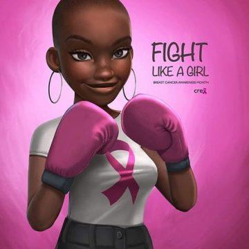 Campanha estrangeira do Outubro Rosa direcionada às mulheres negras/Reprodução