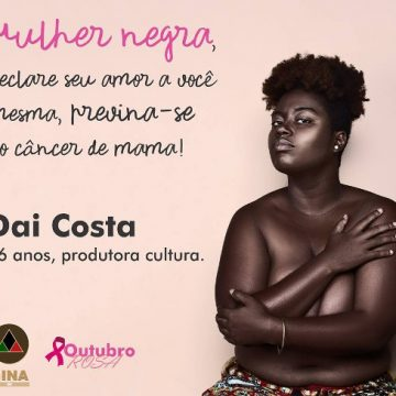 Campanha do Outubro Rosa direcionada às mulheres negras/Reprodução