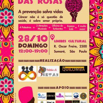 Programação da campanha Outubro Rosa das Rosas/Divulgação