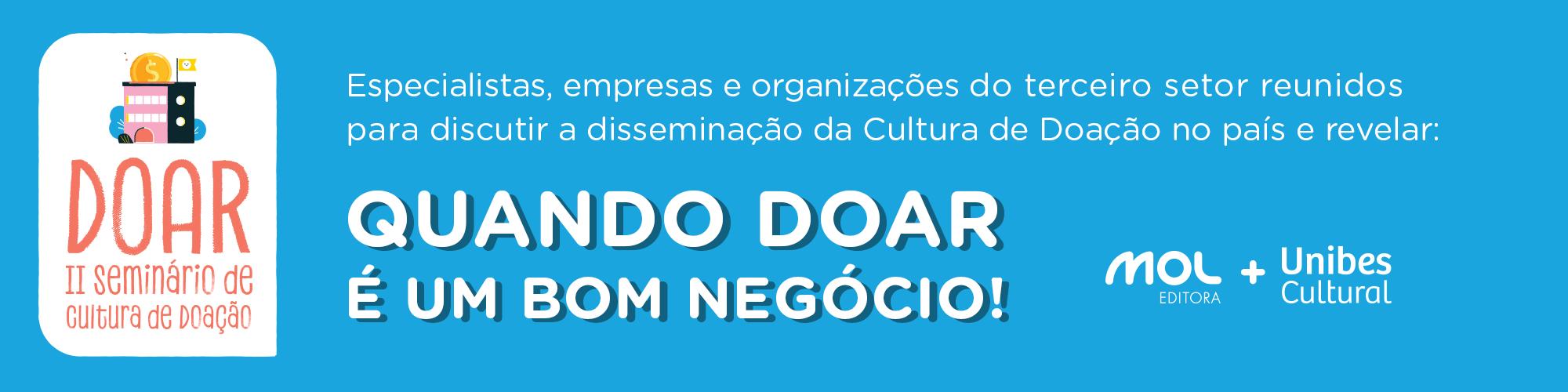 Seminário debate cultura de doação no Brasil