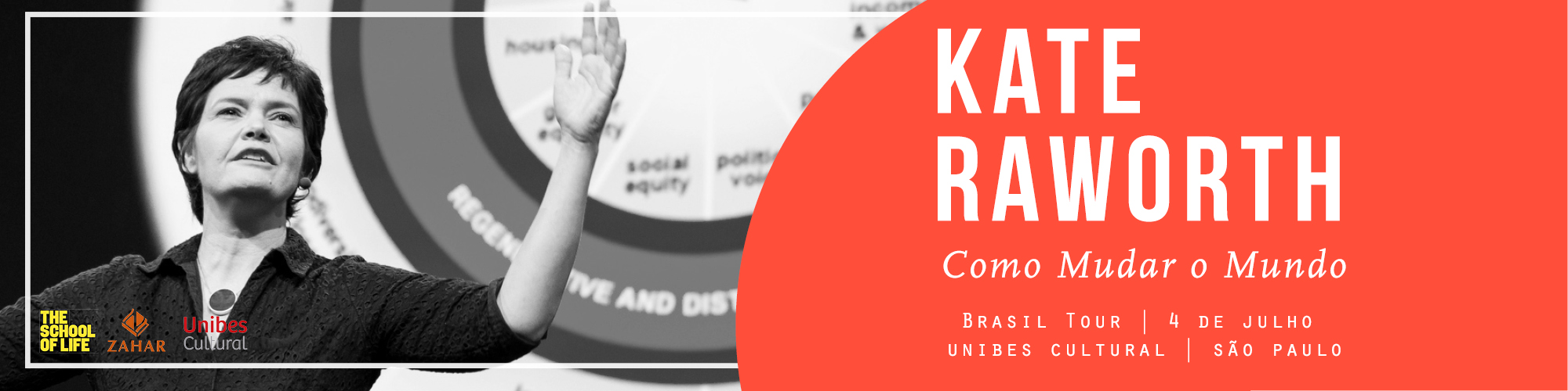 Kate Raworth, economista da Universidade de Oxford, ministra palestra na Unibes Cultural