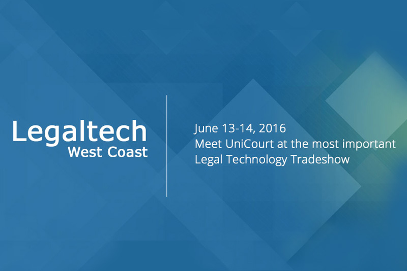 UniCourt at LegalTech, San Francisco (June 13th – 14th)