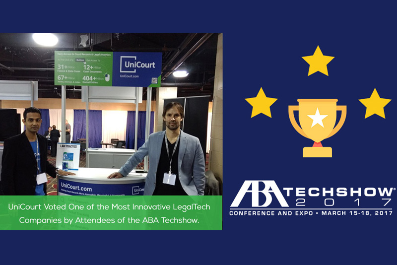 UniCourt Voted One of the Most Innovative LegalTech Companies by Attendees of the ABA Techshow