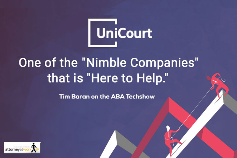 "Tim Baran on the ABA Techshow: UniCourt is one of the ""nimble companies"" that is ""here to help"""