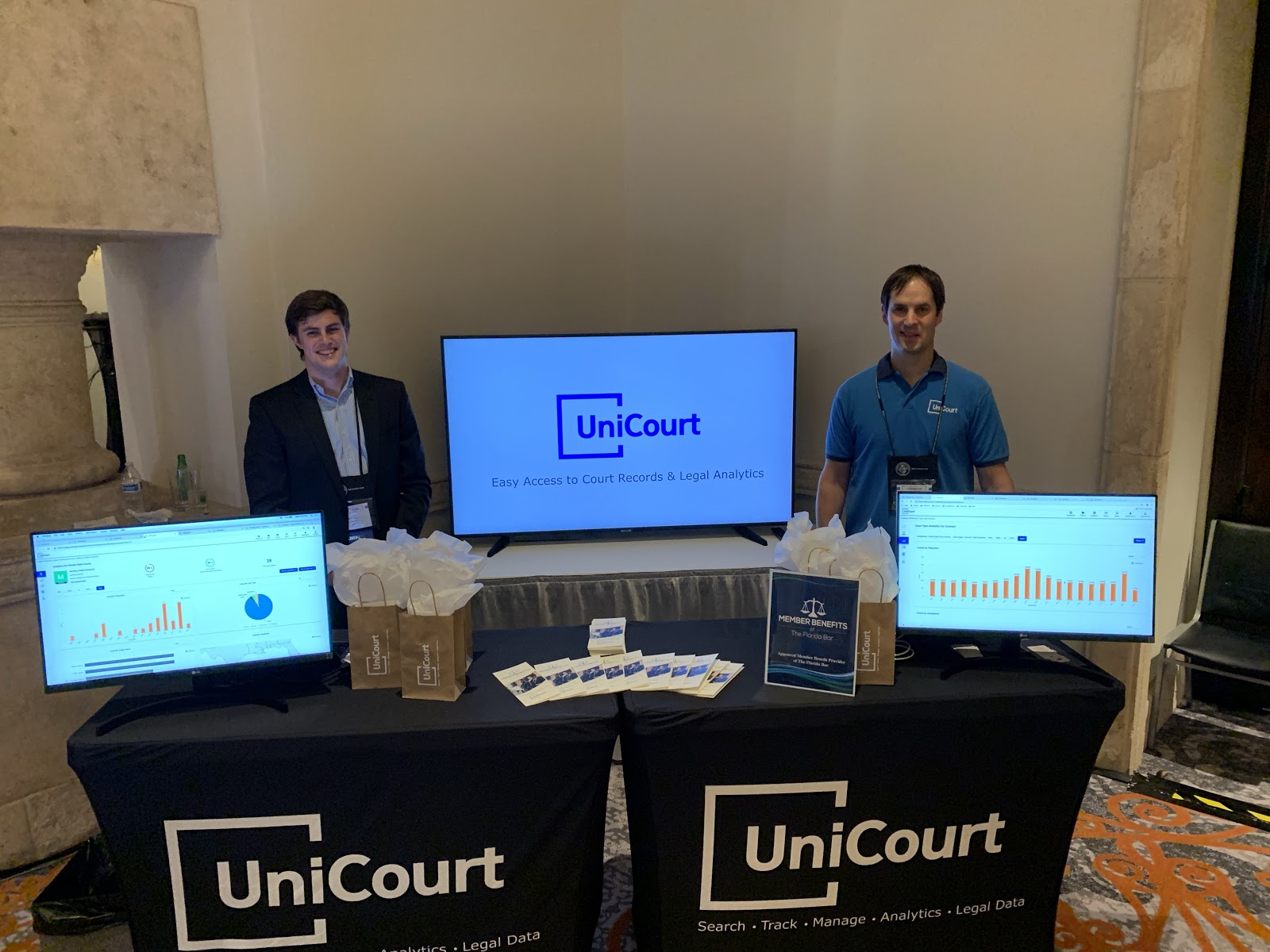 Josh Blandi and Jeff Cox at Florida Bar Convention 2019