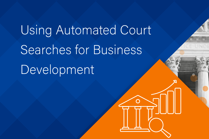 Using Automated Court Searches for Business Development – Infographic
