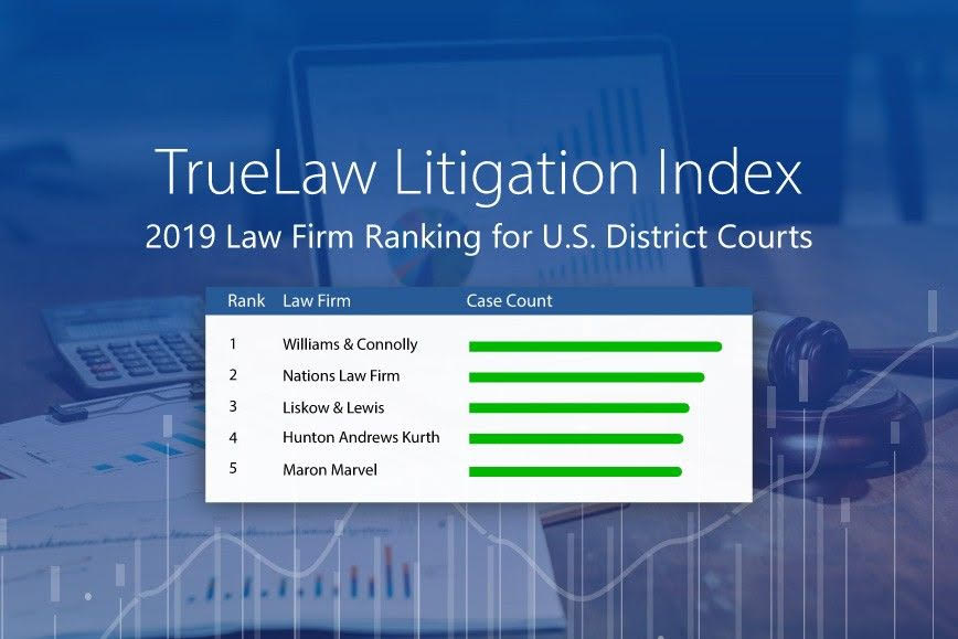 TrueLaw Litigation Index – 2019 Law Firm Ranking