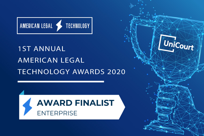 UniCourt Announced as Finalist for the 1st Annual American Legal Technology Awards