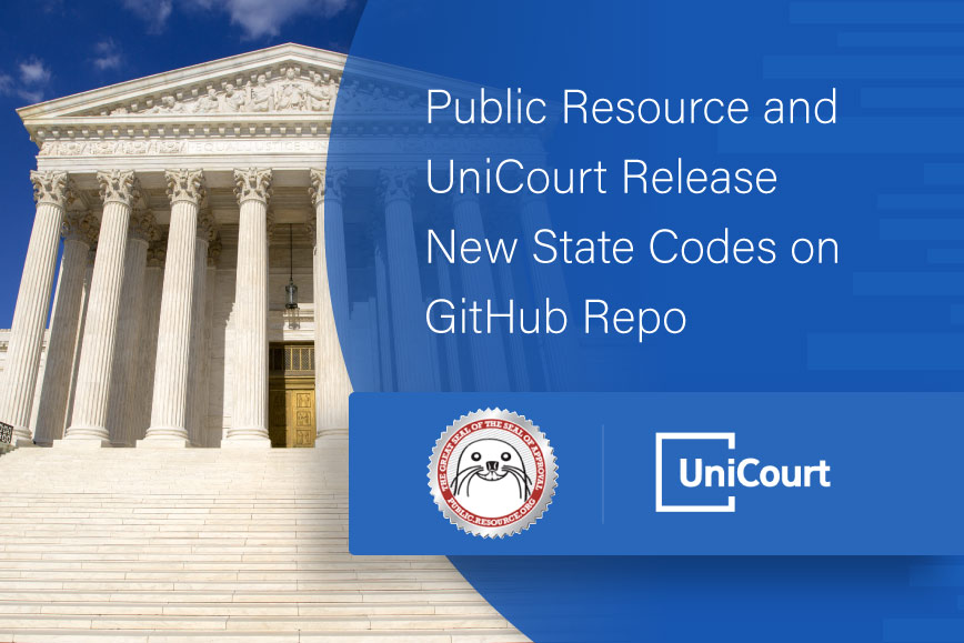 Public Resource and UniCourt Release New State Codes on the Code Improvement Commission GitHub Repo