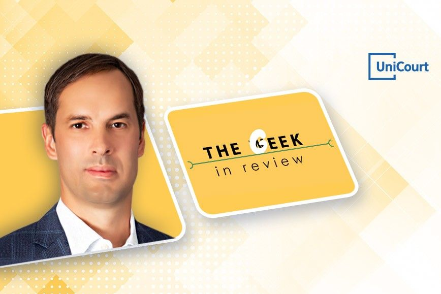UniCourt CEO & Co-Founder, Josh Blandi Joins the Geek In Review Podcast