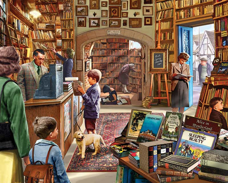 Old Book Store Library / Literary Jigsaw Puzzle