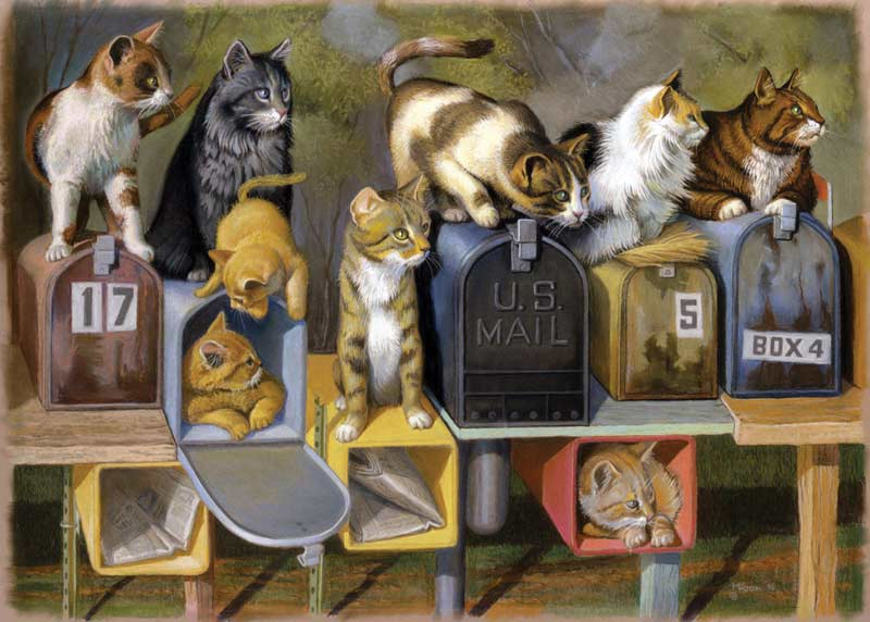 Cat's Got Mail Cats Jigsaw Puzzle