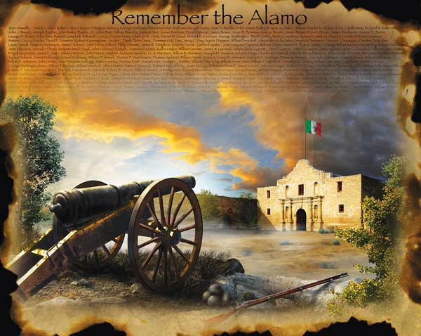 Remember the Alamo History Jigsaw Puzzle