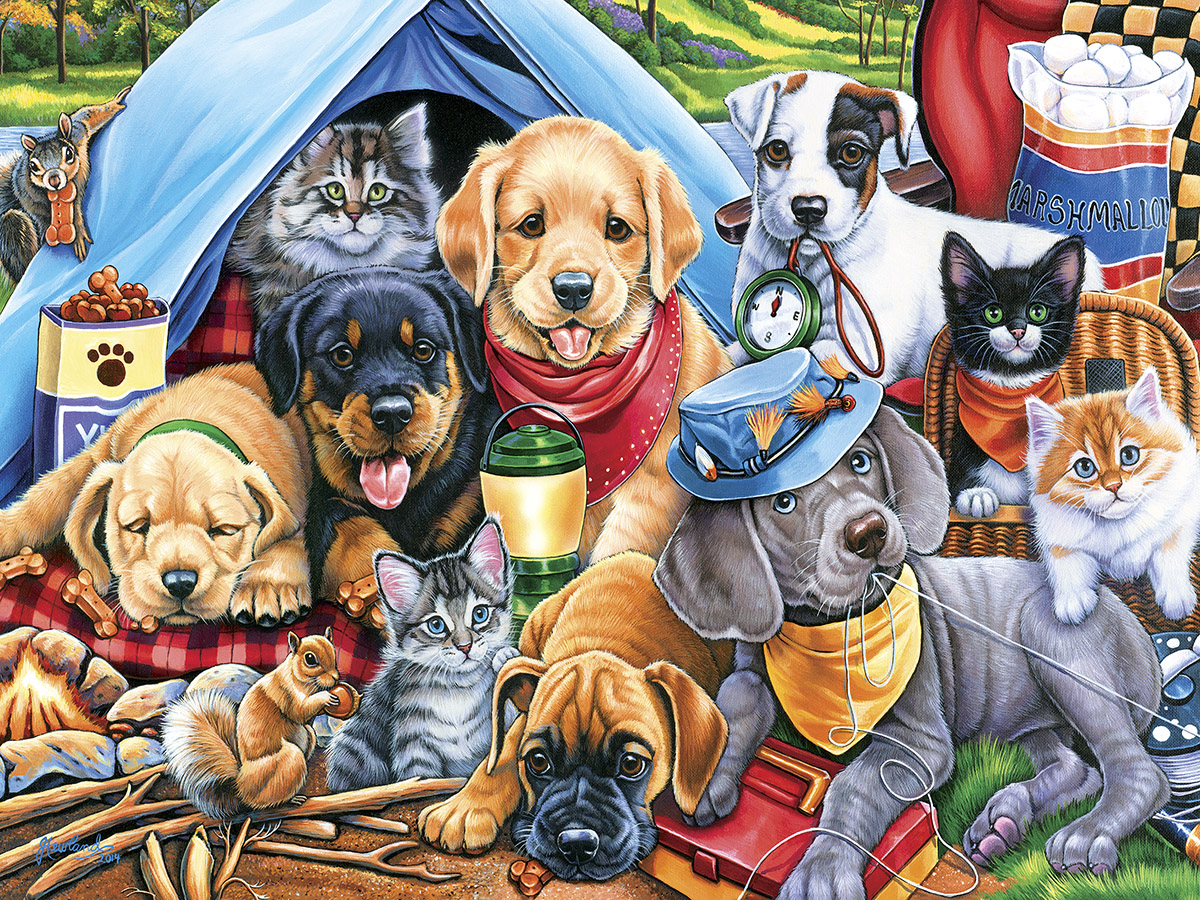 Camping Buddies Animals Jigsaw Puzzle