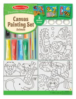 Animals Canvas Painting Set