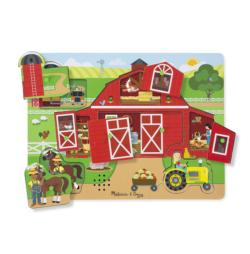 Around the Farm Farm Animals Chunky / Peg Puzzle