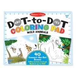 ABC 123 Dot-Dot Coloring Pad - Wild Animals Animals