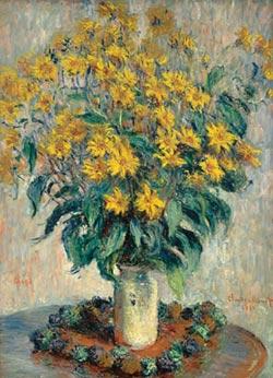 Jerusalem Artichoke Flowers Impressionism Jigsaw Puzzle